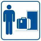 Przechowalnia bagażu 1 - znak informacyjny - RA001
