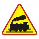 Przejazd kolejowy - znak PCV, naklejka - SA015