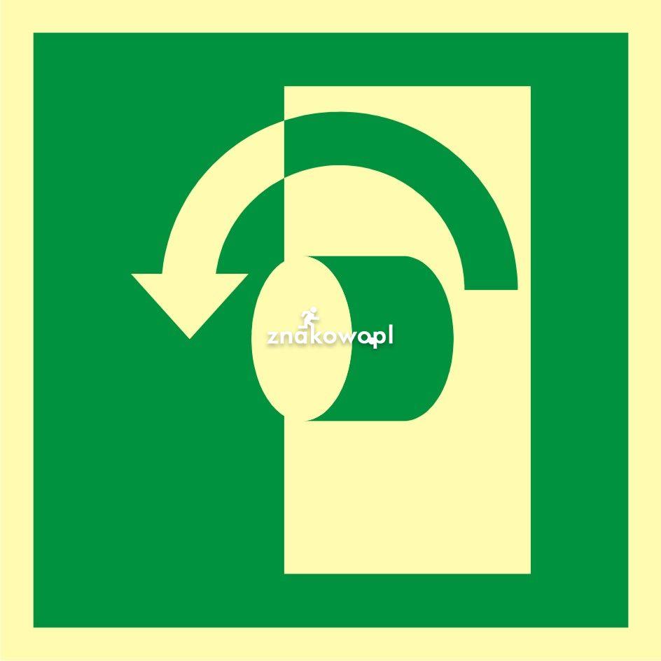 Przekręcić aby otworzyć - Obiekty handlowe – znaki bezpieczeństwa i tablice informacyjne