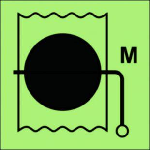 Przepustnica przeciwpożarowa (obszar maszynowy) - znak morski - FI035