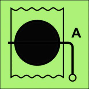 Przepustnica przeciwpożarowa (obszar serwisowy) - znak morski - FI034