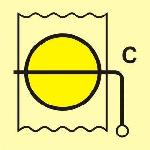 Przepustnica przeciwpożarowa (obszar towarowy) - znak morski - FI036