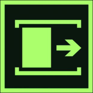 Przesunąć w celu otwarcia - znak ewakuacyjny - AA016