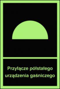 Przyłącze półstałego urządzenia gaśniczego - znak przeciwpożarowy ppoż - BB004