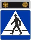 Pulsator podwójny LED fi100 do aktywnych znaków drogowych - Bezpieczne przejście dla pieszych – jak należy się zachować na zebrze?
