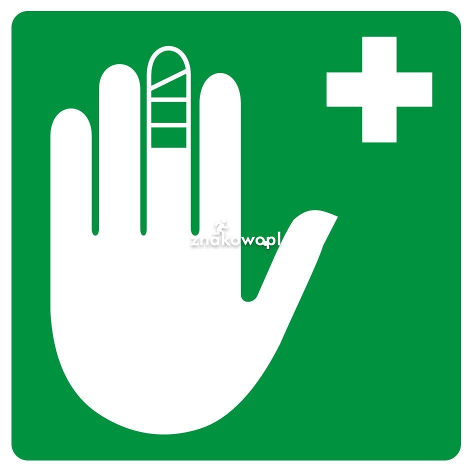 Punkt opatrunkowy - Plac budowy – znaki i tablice