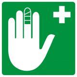 Punkt opatrunkowy - znak bhp informujący - GH001 - Znaki BHP w miejscu pracy (norma PN-93/N-01256/03)