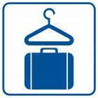 RA004 - Szatnia z przechowaniem bagażu - znak informacyjny