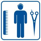 RA010 - Fryzjer męski - znak informacyjny