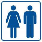 RA017 - Toaleta damsko-męska 1 - znak informacyjny