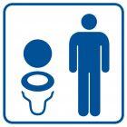 RA019 - Toaleta męska 2 - znak informacyjny