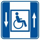 RA044 - Dźwig dla niepełnosprawnych - znak informacyjny