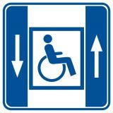 RA044 - Dźwig dla niepełnosprawnych - znak informacyjny - Placówki służby zdrowia – oznaczenia