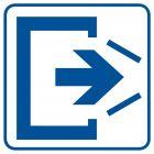 RA066 - Uwaga! Drzwi zamykają się samoczynnie. Nie zamykaj na siłę 1 - znak informacyjny