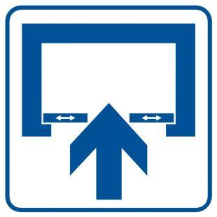RA069 - Uwaga! Drzwi otwierane automatycznie - znak informacyjny