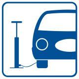 RA081 - Pompowanie opon - znak informacyjny - Stacja benzynowa – jak powinna być oznaczona?
