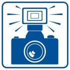 RA083 - Tu można używać lamp błyskowych - znak informacyjny