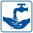 RA105 - Zanim wyjdziesz umyj ręce - znak informacyjny