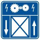 RA106 - Maszynownia dźwigu - znak informacyjny