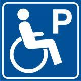 RA116 - Parking dla niepełnosprawnych - znak informacyjny - Miejsca parkingowe dla niepełnosprawnych