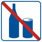 RA503 - Zakaz spożywania napojów - znak informacyjny