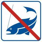RA511 - Zakaz łowienia ryb - znak informacyjny