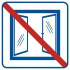RA515 - Nie otwierać obiekt klimatyzowany - znak informacyjny