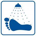 RA519 - Opłucz stopy przed wejściem do pomieszczenia - znak informacyjny
