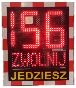 Radarowy wyświetlacz prędkości, radar drogowy Speed LUX 230V