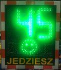 Radarowy wyświetlacz prędkości, radar drogowy Speed LUX z buźką 230V