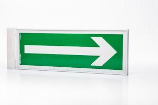 Ramka semaforowa dwustronna 10x30 - do znaków ewakuacyjnych