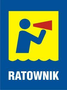 Ratownik - znak, kąpieliska - OH504 - Regulamin kąpieliska
