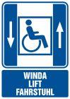 RB004 - Winda lift fahrstuhl - dźwig osobowy dla niepełnosprawnych - znak informacyjny