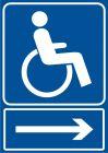 RB028 - Kierunek drogi dla niepełnosprawnych - znak informacyjny