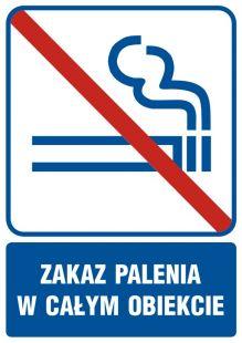 RB504 - Zakaz palenia w całym obiekcie - znak informacyjny