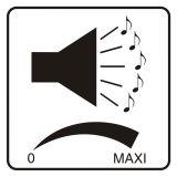 Regulacja głośności - znak, naklejka kolejowa - SD024 - Znaki do pociągów – oznakowanie stosowane w wagonach pasażerskich