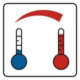 Regulacja temperatury - znak, naklejka kolejowa - SD023 - Znaki do pociągów – oznakowanie stosowane w wagonach pasażerskich