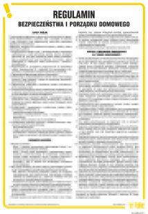 Regulamin bezpieczeństwa i porządku domowego - IAO39