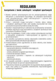 Regulamin korzystania z boisk szkolnych i urządzeń sportowych - IAT20