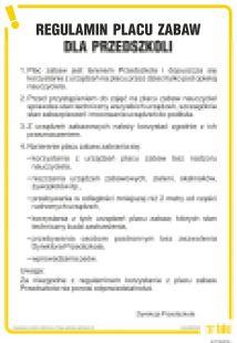 Regulamin korzystania z placów zabaw dla przedszkoli - IAT19