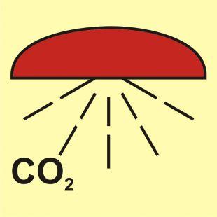Rejon chroniony przez instalację CO2 - znak morski - FA006