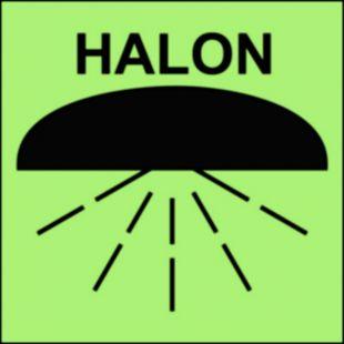 Rejon chroniony przez instalację halonu 1301 - znak morski - FA010