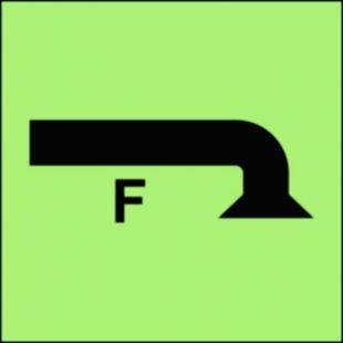 Rejon chroniony przez instalację pianową - znak morski - FA015