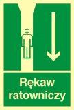 Rękaw ratowniczy - znak ewakuacyjny - AB004 - Znaki ewakuacyjne w szkole