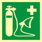 Resuscytator tlenowy - znak ewakuacyjny - AAE028