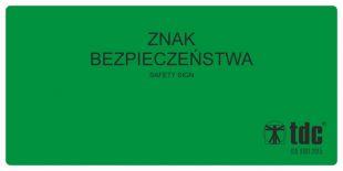 Rewers znaków bezpieczeństwa (przyklejany na szybach)