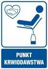 RF006 - Punkt krwiodawstwa - znak informacyjny