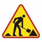 Roboty na drodze - znak PCV, naklejka - SA014