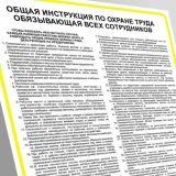 Rosyjska instrukcja ogólna BHP obowiązująca wszystkich pracowników-ОБЩАЯ ИНСТРУКЦИЯ ПО ОХРАНЕ ТРУДА ОБЯЗЫВАЮЩАЯ ВСЕХ СОТРУДНИКОВ - IAA01_RU - Instrukcje BHP dla obcokrajowców