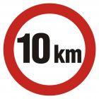 SA006 - Ograniczenie prędkości 10km - znak PCV, naklejka
